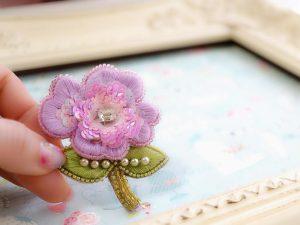 ラベンダー色のお花